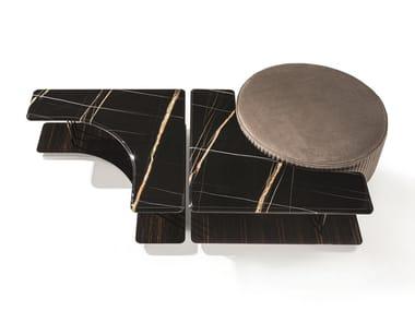 Modular marble coffee table SATURN