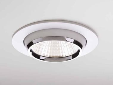 LED round aluminium spotlight SATURNO
