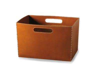 Tanned leather storage box SAVIO | Storage box