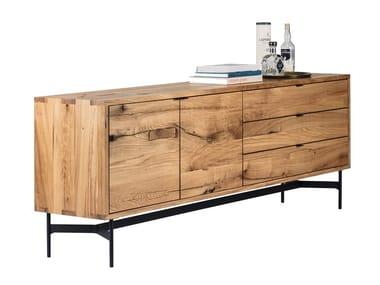 Madia in legno con ante a battente SC21   Madia in legno