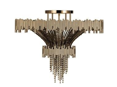 Brass ceiling light with Swarovski® crystals SCALA | Ceiling light