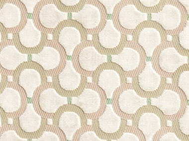 Jacquard upholstery fabric with graphic pattern SCARABEO