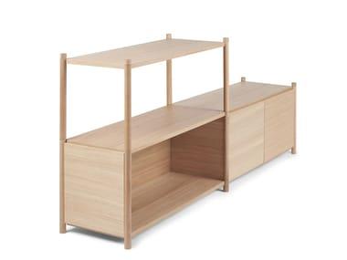 Open modular shelving unit SCEENE D