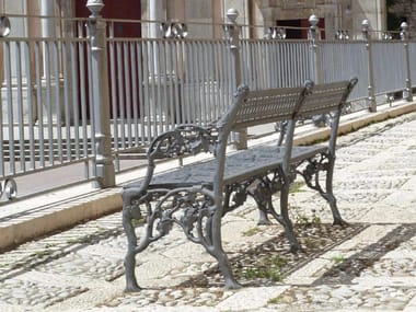 Cast iron Bench with armrests SCILLA | Bench