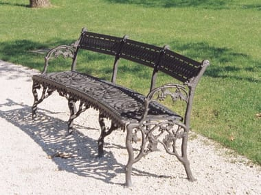 Curved cast iron Bench with armrests SCILLA | Bench