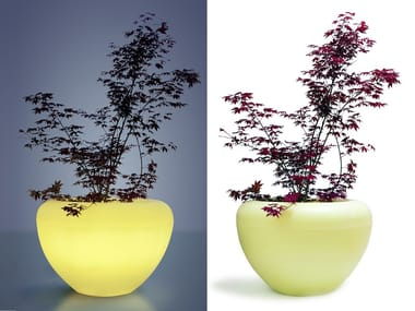 Recycled plastic Flower pot with light SCOOP MOONLIGHT