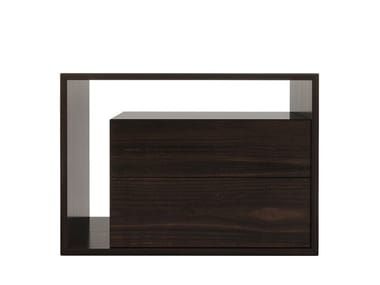 Rectangular wooden bedside table with drawers SCOTLAND   Bedside table