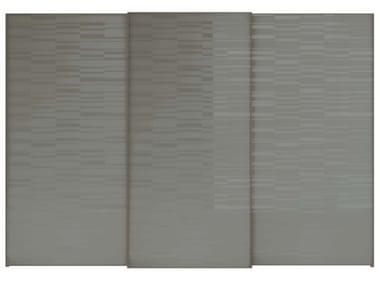 Puerta deslizamiento de vidrio serigrafado para armarios SCREEN | Puerta deslizamiento