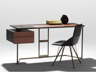 Steel and wood writing desk SCRIBA