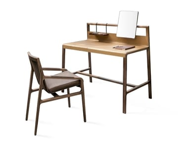 Tanned leather secretary desk / dressing table SCRIBE