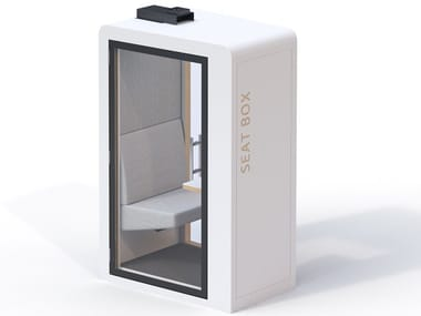 Acoustic & connected office pod for one person SEATBOX PROCYON