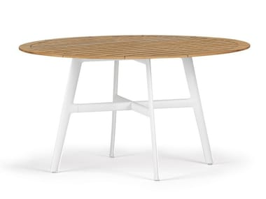 Table à manger ronde en teck SEAX | Table ronde
