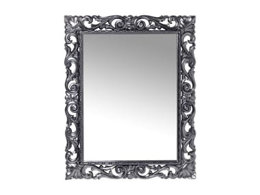 Rectangular wall-mounted framed mirror SECOLO CHROME