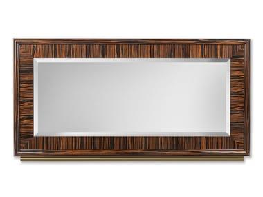 Rectangular framed ebony mirror SECRET