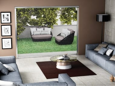Sliding vertical insect screen SECURZIP | Vertical insect screen