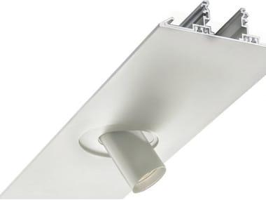 Perfil para iluminación lineal de aluminio para focos SEGMENT | Perfil para iluminación lineal para focos