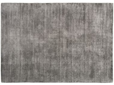 Solid-color rectangular polyester rug SELECT