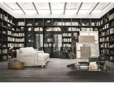 Sectional modular custom bookcase SELECTA