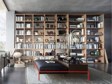 Sectional modular custom bookcase SELECTA NOCE L | Bookcase