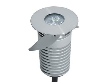 Faretto per esterno a LED in acciaio inox da incasso SELENE