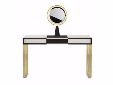 Wooden and brass dressing table SELENE | Dressing table