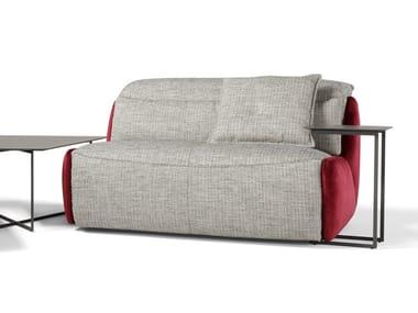 Divano reclinabile in tessuto a 2 posti con movimento elettrico SELFY | Divano a 2 posti