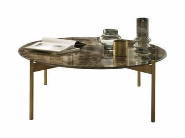 Marble coffee table for living room SELFY | Round coffee table