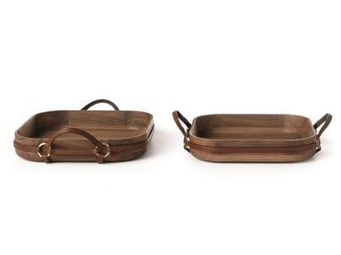 Square walnut tray SELLERIA 01/02 | Tray