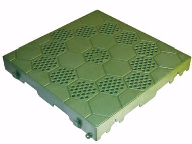 Semi-perforated tile for garden SEMI PERFORATED TILE