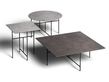 Set di tavolini con piano in gres porcellanato SEN   Tavolino
