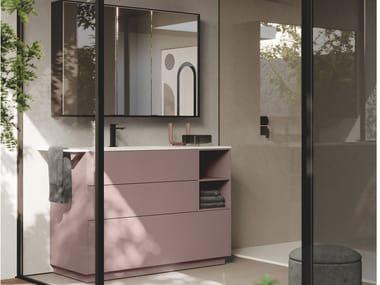 Mueble bajo lavabo simple con lavabo integrado SENSE 18