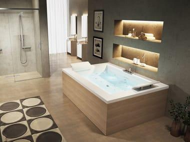 2 seater rectangular bathtub SENSE DUAL