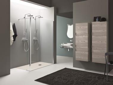 2 places corner Walk in shower SEPARET DEDALO | 2 places Walk in shower