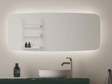 Miroir rectangulaire mural pour salle de bain SEPPIA