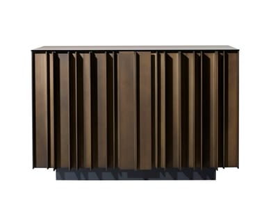 Lacquered wooden sideboard with doors SERGE