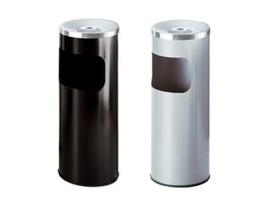Outdoor steel litter bin with ashtray SERIE 5A FIRE-RESISTANT