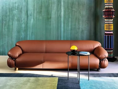 3 seater leather sofa SESANN | Leather sofa