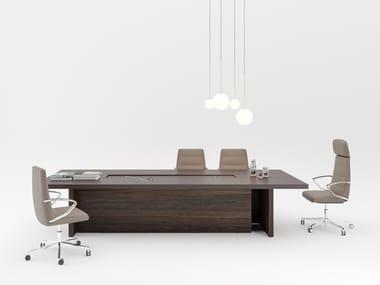 Rectangular wooden meeting table SESSANTA | Meeting table