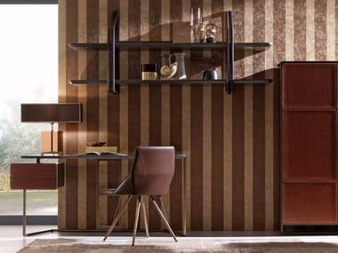 Steel and wood wall shelf SESTANTE | Wall shelf