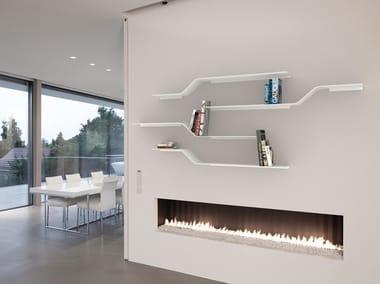 Powder coated aluminium wall shelf SET 13