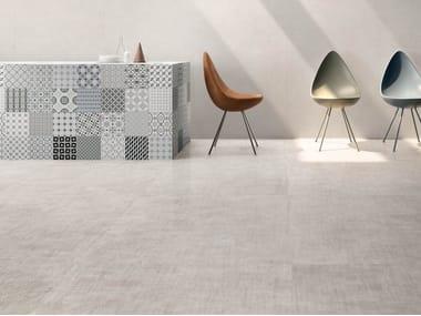 Pavimento/rivestimento in gres porcellanato effetto tessuto SET DRESS WHITE