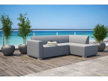 5 seater sectional fabric sofa with fire retardant padding Set Jesi