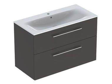 Set lavabo e mobile SET MOBILE + LAVABO SELNOVA SQUARE SLIM 100 LAVA