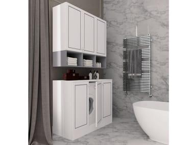 Mobile lavanderia in legno con ante a battente SETA 14   Mobile lavanderia