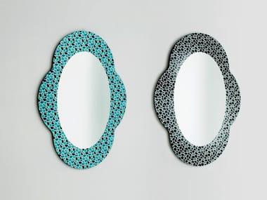Espelho oval moldurado de parede SETTECENTO