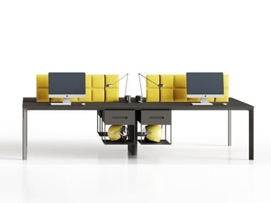 Multiple office workstation SEVENTY SEVEN | Office workstation with sound absorbing screens