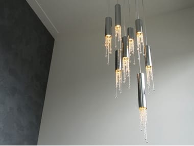 Metal pendant lamp with crystals SEXY CRYSTALS H8