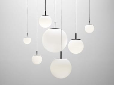Blown glass pendant lamp SFERA