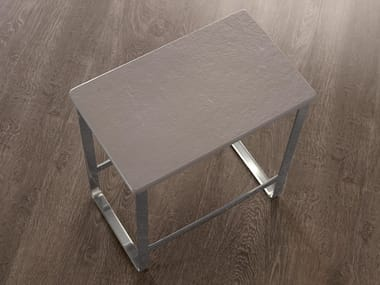 Steel bathroom stool SGABELLO