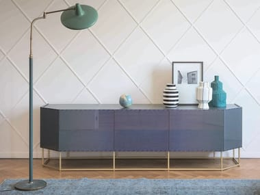 Wooden sideboard with doors SHADE